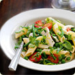 Chargrilled chicken, spinach and pasta salad