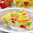 Colourful vegetable quiche