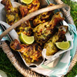 Green curry chicken drumsticks