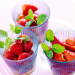 Pimm&#39;s, strawberry and mint cups